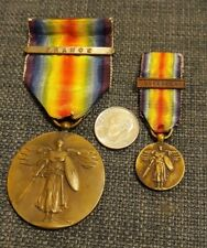 New listing Lot of 2 Ww1 Us Victory Medals W/France & Overseas Bars