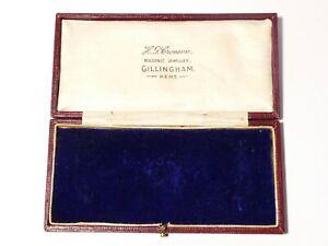 Antique EMPTY Jewellery Masonic Medal Stick Pin Display Box HG Croneen Kent #HGC
