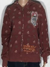 Don Ed Hardy Death Before Dishonor Eagle Skulls Womens Size Medium Jacket Hoodie