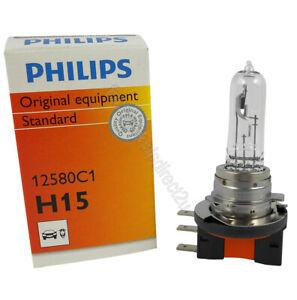 Genuine PHILIPS Standard Fog Light Globe H15 12V 55/15W PGJ23T - Single Bulb