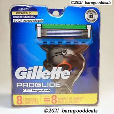 GILLETTE PROGLIDE CARTRIDGES 8 PACK, GENUINE MADE IN USA, NEW, SEALED