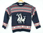 Festified Holiday Clothing Reindeer Threesome Ugly Christmas Sweater Mens XXL