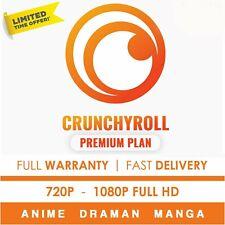 Crunchyroll Premium ✅Anime + Drama + Manga ✅1 Year Warranty ✅Fast Delivery