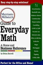 Merriam-Webster's Guide to Everyday Math : A Home and Business Reference  NEW
