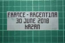 ARGENTINA World Cup 2018 Home Shirt Match Details FRANCE Vs ARGENTINA