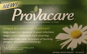 PROVACARE Probiotic Vaginal Care Capsule Applicators 14pk for Yeast Infections