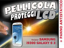 Pellicola protezione LCD per SAMSUNG i9300 GALAXY S 3 S3 III  PANNO ANTISTATICO