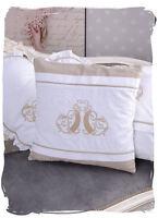 Monogramme Broderie Taie D'oreiller Blanc Déco Coussin Écrit