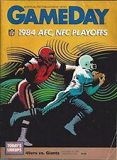 1984-85 NFL NFC CHAMPIONSHIP FOOTBALL PROGRAM - NEW YORK GIANTS @ SF 49ERS