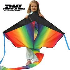 Lenkdrachen 2m Regenbogen Leiner Drachen Sportdrachen Lenkdrache Kite Flugdrache
