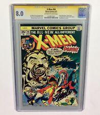X-MEN #94 CGC 8.0 KEY Stan Lee Signature Series! (New X-MEN begin!) 1975 Marvel