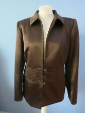Roman jacket size 14 brown satin wedding cruise wear EX Con