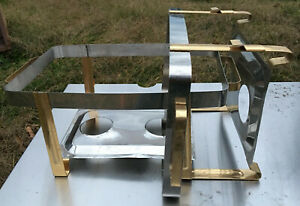 2 Vollrath Odyssey Full Size Chafer Buffet Server Stands stainless steel gold