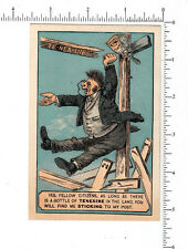 3730 Egyptian Tenexine Co Glue trade card glue bottle hot air politician parody