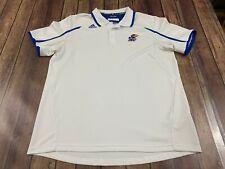 Kansas Jayhawks Adidas Men's White Polo Shirt - XL