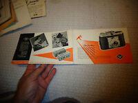 Dépliant Publicitaire Ancien Appareil Photo AGFA ISOLA 1 et Accessoires , Flash