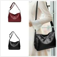 Women Ladies Soft Faux Leather Hobo Handbag Satchel Shoulder Tote Bag Handbag QK