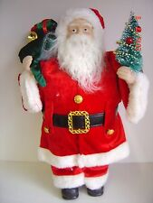 """New Santa Beard 16"""" Collect Old Fashioned Holly Velvet Coat Tree Gifts"""