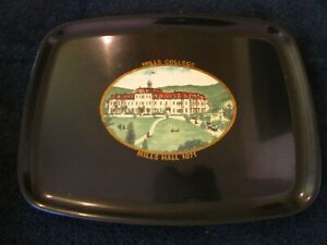 Vintage  Couroc Tray Hills College Mills Hall 187112 1/2 x 9 1/2 inches