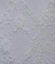 New! 2.2 yards White Lace Flower Fabric Cotton Chinlon Pattern Sewing Quality