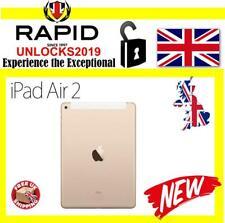 New Apple iPad Air 2 32GB, Wi-Fi + Cellular (Unlocked), 9.7in - Gold MNW32B/A