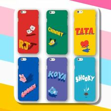 KPOP BTS Phone Case RJ SHOOKY TATA BT21 Bangtan Boys Cellphone Case Cover SUGA