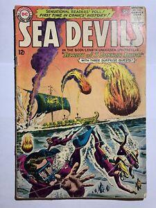 Sea devils #13,24,26,27,29 Dc Comics Silver Age