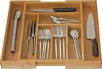 Expandable Cutlery Flatware Drawer Utensil Tray Kitchen Organizer Storage Bamboo