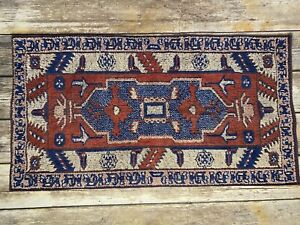 Vintage Ralph Lauren Aztec Southwest Hand Towel Geometric Red Blue Cream USA