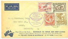 AUSTRALIA-PAPUA 1934  SPEC FLIGHT COVER  VF