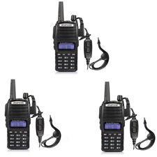 3Pcs Baofeng UV-82 5W Dual Band VHF/UHF Walkie Talkie Two-Way Radios transceiver