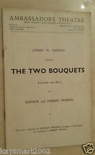 1937 Theatre  Programme- THE TWO BOUQUETS - Frederick Ranalow - Joyce Barbour