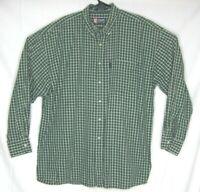 Chaps Ralph Lauren Green Plain Button Down Shirt XL Long Sleeve