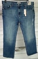 Calvin Klein Men's Relaxed Straight Leg Stretch Jeans Medium Wash MSRP $79