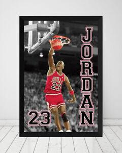 Michael Jordan - 23 *Framed* Large Poster (90cm x 60cm) Ready to Hang