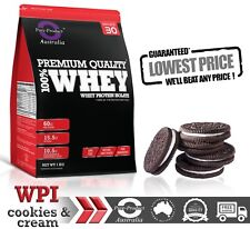 1KG WHEY PROTEIN ISOLATE POWDER  WPI  100% PURE  COOKIES & CREAM