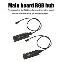 10 RGB Motherboard Fan Synchronisation HUB Splitter Adapter Verlängerungskabel
