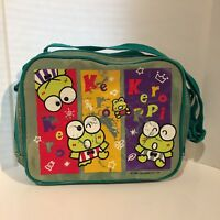 d6bf294e8 Sanrio Keroppi Frog Lunch Pal W/ Strap Vtg 1995 Green Slight Wear Used Nylon