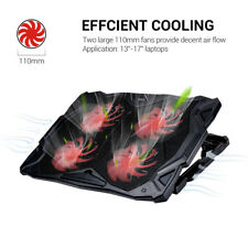 "ECOLA Laptop Cooling Pad Cooler Chill Mat 5 Fans Led Light for 13-17"" Notebook"