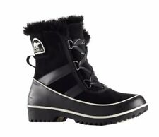 NEW SOREL Tivoli II Black Women's 8.5 Lace Boot Waterproof Leather Fleece Lined