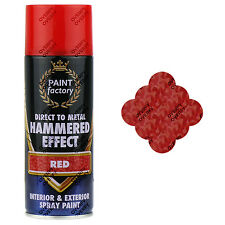 1 x Red Hammered Effect Spray Paint Can Interior Exterior Metal Rust 400ml