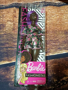"New 12"" Barbie Doll #125 Black African American Purple Hair Ebony Mattel 2018"