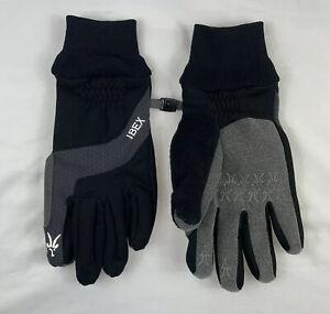 Ibex Waterproof Merino Wool Black Gray Winter Gloves Size Mens Large