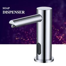 Deck Mounted Bathroom Sink Chrome Automatic Sensor Soap Dispenser Faucet style