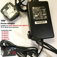 18V Power Adapter for Sony KDL-40NX710 3D TV Stand Speaker SU-B461S