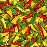 100% Cotton Fabric Timeless Treasures Chili Pepper Spicy Spice Food