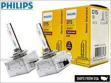 2x NEW OEM 4300K PHILIPS D1S HID XENON REPLACEMENT BULBS w/ security label PAIR