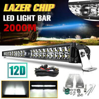 Super Bright Car 4x4 LED Driving Lights 2 Rows 22 Inch LED Laser Light Bar 9-30V