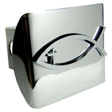 Christian Chrome Fish w/Cross Emblem on Chrome Hitch Cover Quality (NEW)