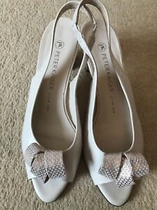 Ladies Peter Kaiser Beige Leather Sling Back Shoes UK Size 6